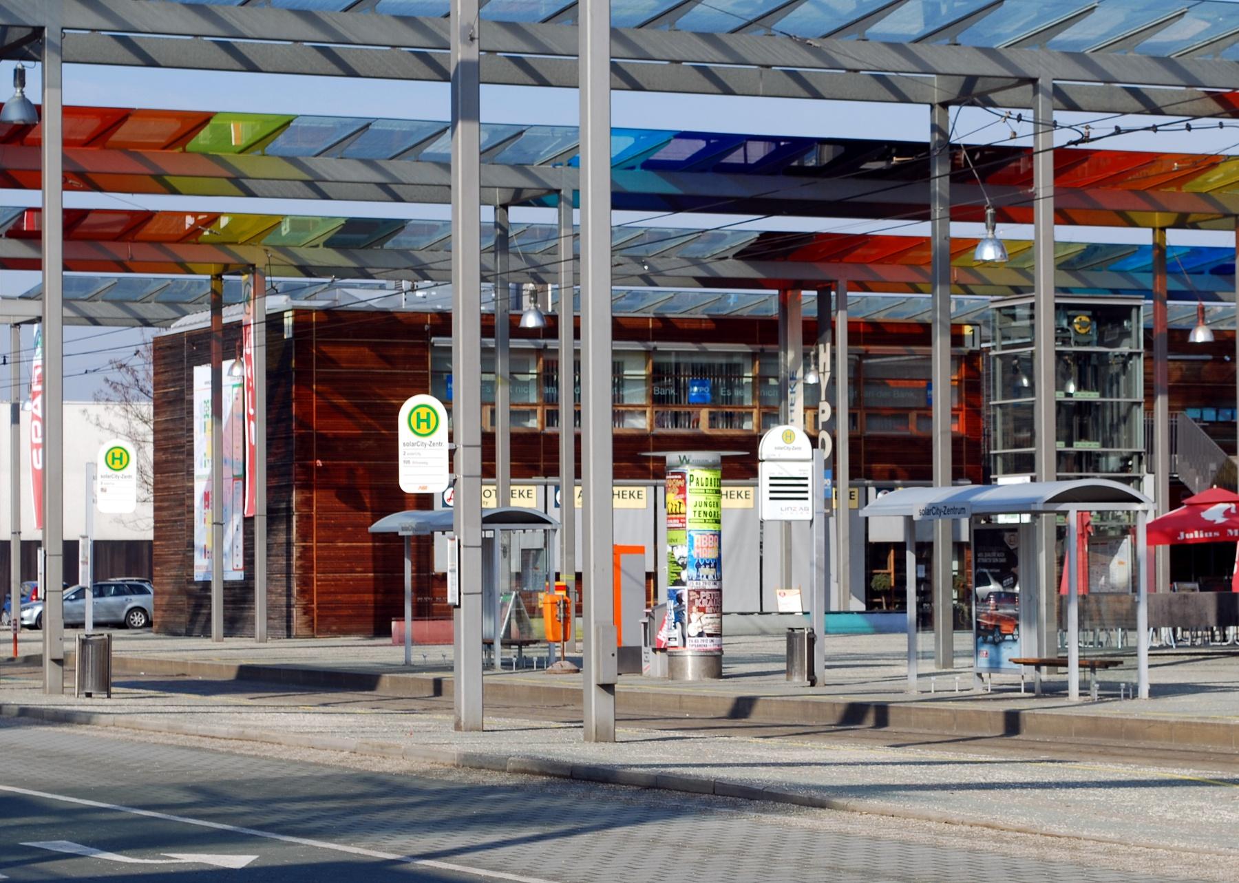 Datei Haltestelle Solarcity Zentrum Jpg Linzwiki